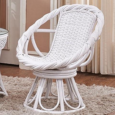 HOOM-Fauteuil pivotant fauteuil balcon salon en rotin rotin naturel Princesse chaise
