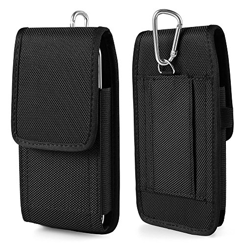 kingsource (TM) Samsung Galaxy S7 Edge holster-heavy Duty Rugged Nylon Canvas Schutzhülle Tasche Handy Fall Beutel (mit Metall Haken) für Samsung Galaxy S7 Edge mit einer Haut auf, Apple iPhone 6 Plus Heavy-duty-iphone Fall