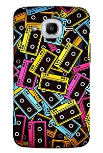 Omnam Colored Casettes Pattern Printed Designer Back Cover Case For Samsung Galaxy J2 2016
