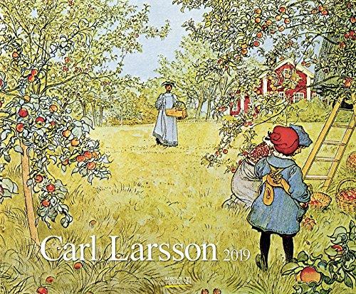 Carl Larsson 2019: Kunstkalender mit Werken des Künstlers Carl Larsson. Großer Wandkalender im...