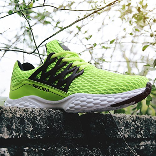 HUSK'SWARE Unisex Laufschuhe Turnschuhe Lace-ups Sport Lässige Breathable Mesh Leichtgewicht Outdoor Athletic Footwear Grün