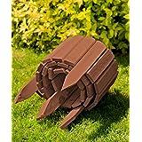 Bordura fija de madera en la logitud de 200 cm y una altura de 20 cm. Utilizable como valla, cenefa del arriate, borde del arriate, borde del césped o como palisada en color natural y intemperizada., Color:marrón