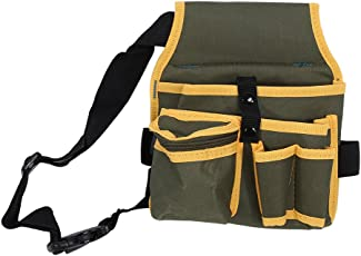 Zerone Canvas Tool Bags,Utility Multiple Pocket Canvas Pouch Bag with Belt Hardware Mechanic's Electrician Tool Pack