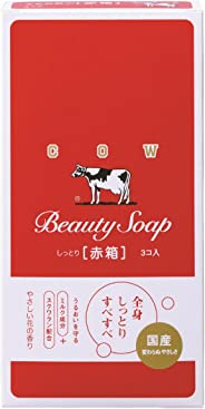 Cow Brand Red Box Beauty Soap For Women, 3 X 3.5 Oz
