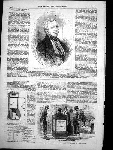 Antiker Druck Post-Briefkastens Fleet Street 1855 Graf-Carlisles des Neuen (Fleet Post)