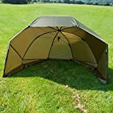 BAT-Tackle 60'' Oval Squat Brolly inklusive Türstangen und Storm Caps