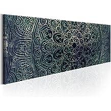 murando® Bilder 135x45 cm Format! Fertig Aufgespannt TOP Vlies Leinwand - Abstrakt Wand Bild Kunstdrucke Wandbild Orient Mandala f-A-0594-b-d
