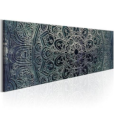 murando Bilder 120x40 cm - Leinwandbilder - Fertig Aufgespannt - Vlies Leinwand - 1 Teilig - Wandbilder XXL - Kunstdrucke - Wandbild - Orient Mandala