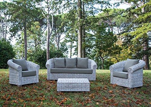Mobili In Rattan Naturale.Salotto Design In Rattan Naturale Finitura Bianco Wash Arredo