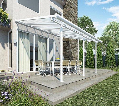 Hochwertige Aluminium Terrassenüberdachung, Balkondach, Terrassendach Sierra 230x460 cm (TxB)