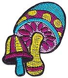 WAKAPU - Champignon Hallucinogène Patch Broderie Application Tous nos patchs à coudre / à repasser de Wakapu sont en nylon brodé et sont donc très résistants. Les patchs sont brodés par des machines ultra-modernes, puis leur bordure est soit surfilée...