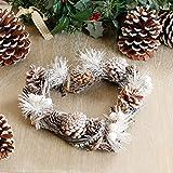 Deko-Herz mit mit Weihnachts-Kranz mit pinecones. mit Glitzer, ideal zum Aufhängen in Küche, Wohnzimmer, Türen außen oder in der Tür.