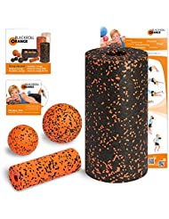 Blackroll Orange (Das Original) - Die Selbstmassagerolle - Starter-Set Standard inkl. Übungs-DVD, Übungsposter & Booklet