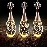 Wge Einfache Moderne Led Restaurant Kronleuchter Drei Kristall Esszimmer Lampe Blase Parfüm Flasche Kreative Kronleuchter Bar