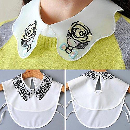 Collier d'ornement de chemise de faux de mode de mode Collier détachable pour collier faux détachable Color C