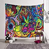 Morbuy Arazzo da Parete Grande Dipinto, Hippie Poliestere Stampa Home Decor tappeti da Parete Casual Picnic Telo Mare (Grande (150 x 200 cm), Lumaca)