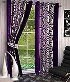 Optimistic Home Furnishing-Purple -Crush -Door Curtain-(set of 2)