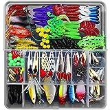 CHSEEO Kit di Esche da Pesca, 141Pcs Artificiale Pesca Richiamo Set Esche da Pesca Crankbaits Swimbait Cucchiaini da Pesca Attrezzatura di Pesca Esche Artificiali Perfetto per Pesca #3