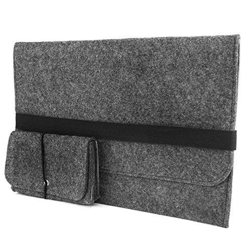 Gummi-laptop-tasche (Laptop-Tasche Filz Hülle für alle Ultrabook Macbook/Pro Retina ipad pro bis 14 Zoll)