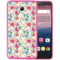 Funda Alcatel OneTouch Pop 3 5.5, WoowCase [ Alcatel OneTouch Pop 3 5.5 ] Funda Silicona Gel Flexible Flores Multicolor, Carcasa Case TPU Silicona - Rosa
