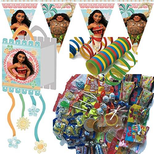 Procos/Carpeta Pinata-Party-Set * VAIANA * für Kindergeburtstag & Mottoparty | mit Pinata + Süßigkeiten + Dekoration | Kinder Geburtstag Motto Deko Disney Moana Maui (Hat Maui)