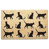 Puckator I Love My Cat - Felpudo (Fibra de Coco, 75 x 2 x 45 cm), diseño de Gato