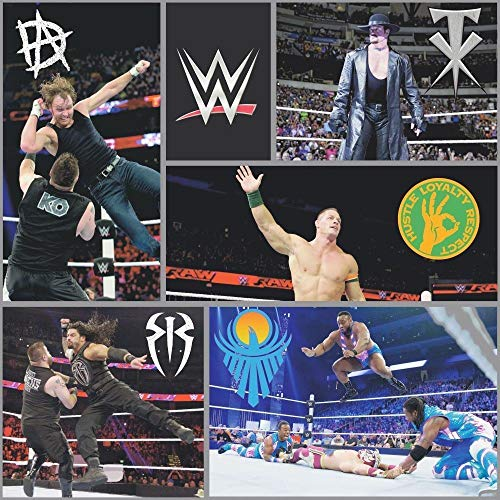 WWE Wrestling Tapete Schwarz WP4-WWE-BLK-12