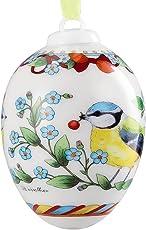 Hutschenreuther 02254-723932-27957 Porzellan-Ei 2016 Blaumeisenpaar im Geschenkkarton, Durchmesser 4,5 cm, Höhe 6 cm