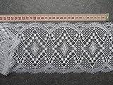 Gardinen Spitze Muster 14cm hoch in weiß Hochglanzgarn