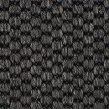 Teppichboden Auslegware | Sisal-Optik Schlinge | 400 und 500 cm Breite | anthrazit schwarz | Meterware, verschiedene Größen | Größe: 5,5 x 5 m