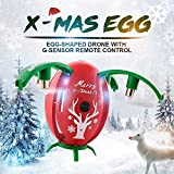 New X-mas Egg RC Drone, JJRC H66 Remote Control 2.4G 4 Axis 720P HD Camera WIFI FPV RTF Foldable Flying Superman Egg Quadcopter For Christmas Gift, by ECLEAR