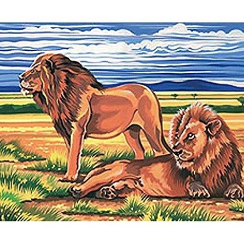 Kit Canevas Les Lions - 32