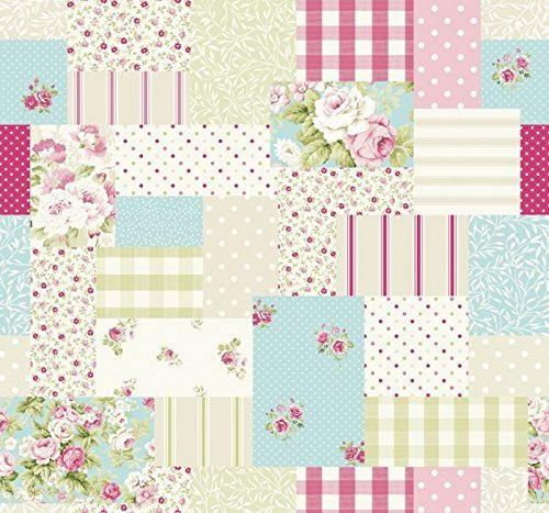 vintage-patchwork-cucina-paese-novit-tende-tessuto-tappezzeria-venduto-di-metro-rosa-caramella