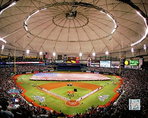 The Backstreet Boys perform the National Anthem before game 1 of the 2008 World Series between the Philadelphia Phillies and the Tampa Bay Rays at Tropicana Field. October 22 2008 Photo Print (27,94 x 35,56 cm)