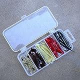 Broadroot transparente plástico Artififial señuelo de la pesca cebo caja de almacenamiento organizador caja de contenedores
