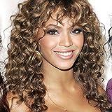 JS Perücke Beyonce mid-length Curly Full Lace-Echthaar-Perücke mit