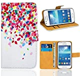 Samsung Galaxy Trend Plus S7580 Duos S7582 Funda, FoneExpert Wallet Flip Billetera Carcasa Caso Cover Case Funda de Cuero Para Samsung Galaxy Trend Plus S7580 Duos S7582