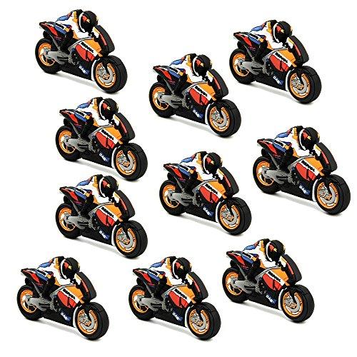 A plus+ 10 pezzi unità flash usb 3.0 jumpdrive 64 gb chiavetta usb 3.0 pen drive squadra del motociclo