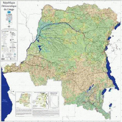 Carte générale de la République démocratique du Congo (RDC): au 1 : 2 000 000
