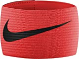 Nike Fussball Arm Band 2.0 Kapitänsbinde, Orange (Total Crimson/Black), One Size