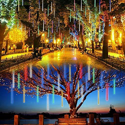 t, 10 Rohr 360LED Meteorschauer-Regen-Lichter, Solarlicht, Schnur Ultra helle romantische Lichter für dekorative Lampe der Partei-Hochzeits-LED im Freien (Farblicht) ()