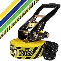 Slackline 15 m King (cargas hasta 3 toneladas) de BB-Sport, Color:Do not cross. amarillo