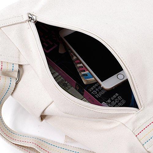 Bwiv Rucksäcke Canvas Unisex Schulrucksack Vintage Schultertasche Daypack Outdoor Backpack Damen Herren Tasche für Retro Reisetaschen Lässige E C