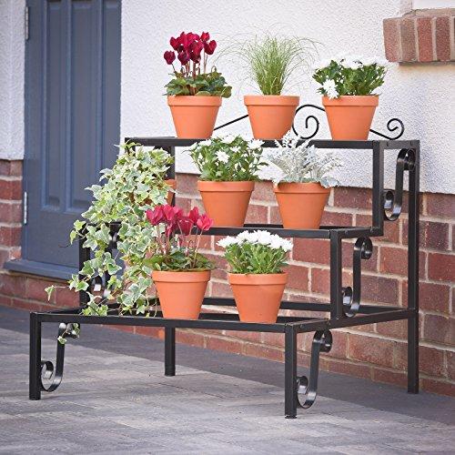 Etagères de Jardin pour Fleurs et Plantes - Metal Noir
