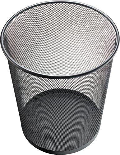 Helit H2518595 Papierkorb Mesh, 15 L, Metall, schwarz