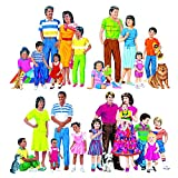 Little Folks VISUALS LFV22211 Multikulturelle Familien FLANNELBOARD-SET OF ALL 4 PRE-CUT SET