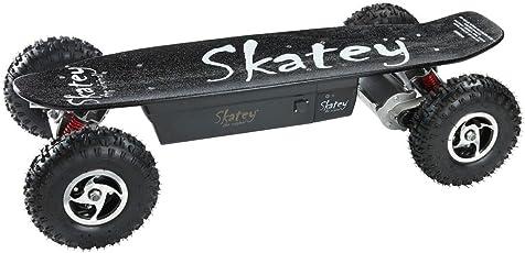 SKATEY 800W black OFFROAD Elektrisches Longboard elektrisches Skateboard