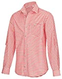 Trachtenhemd für Trachten Lederhosen Freizeit Hemd rot,balu,Grun-kariert Gr. S-XXXL