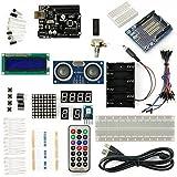 SainSmart UNO R3 Kit debutant avec 19 Tutoriaux (Téléchargement disponible dans la description) Projets Basiques Arduino (1602 LCD & Prototype Shield & hc-sc04 inclus)