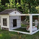 Kaninchenstall Meerschweinchenstall Pretty Home White Antiknaag mit Schubladen